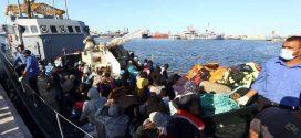 انقاذ 16 مهاجر من بين 47 بمنطقة صبراتة بعد غرق قارب خشبي كان يقلهم