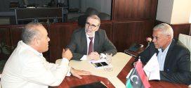 رئيس مجلس إدارة المؤسسة الوطنية للنفط يلتقي بعميد بلدية بني وليد