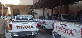 مديرية أمن طرابلس تتسلم سيارات شرطة حديثة